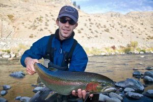 Nico Trochine w/ Northwest steelhead