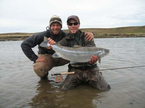 Rodrigo & Packet w/ nice sea trout