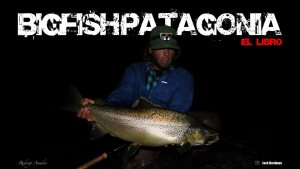 Rodrigo Amadeo with a huge Limay brown trout
